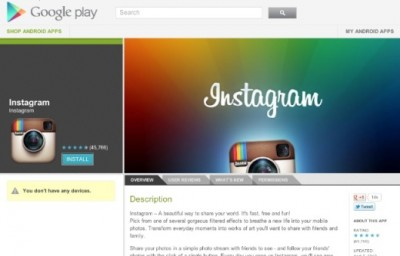 Android version Instagram