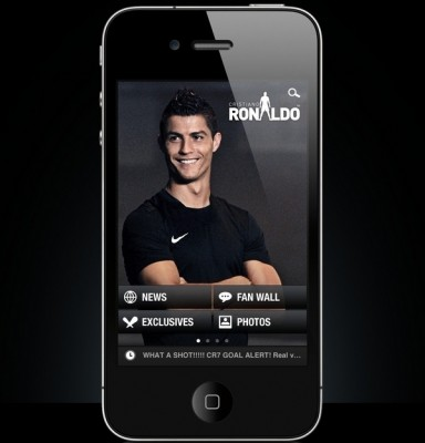 Aplication for iPhone of Cristiano Ronaldo