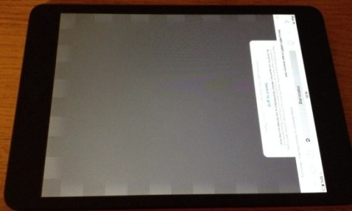 image persistence in iPad Mini Retina