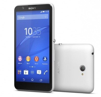 Xperia E4: autonomy of two days, for a 5 inch display